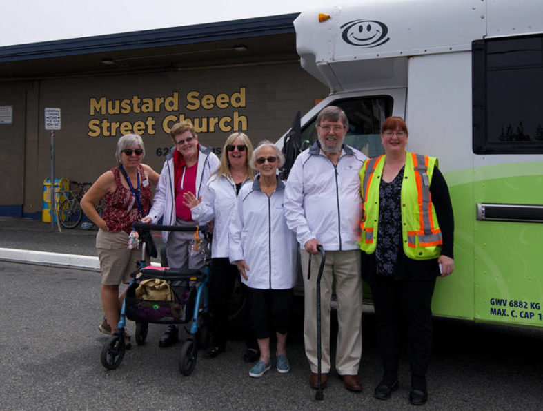 Food drive in Victoria, BC hosted by Retirement Concepts communities